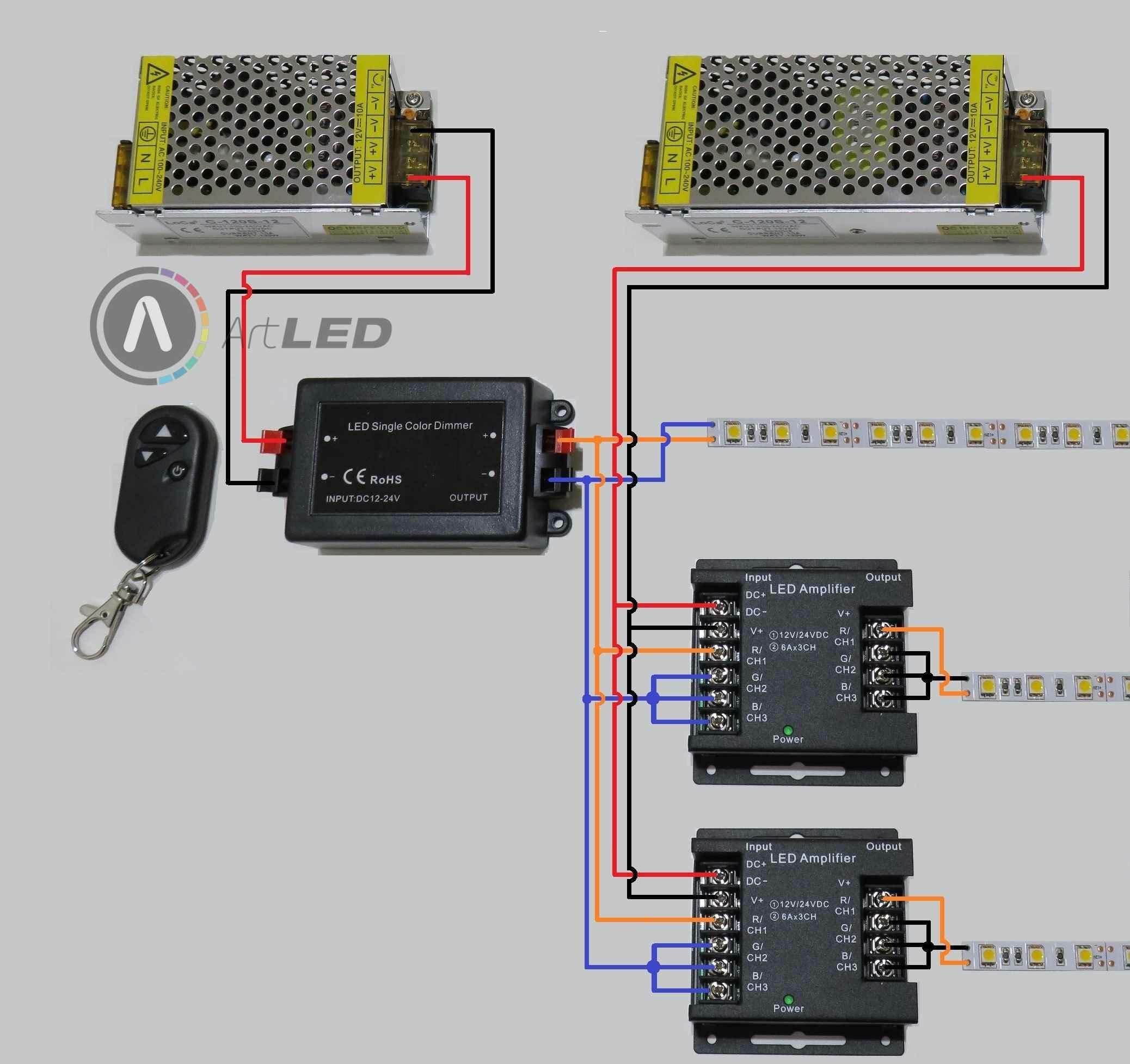 LED szalag dimmer és jelerősítő 3