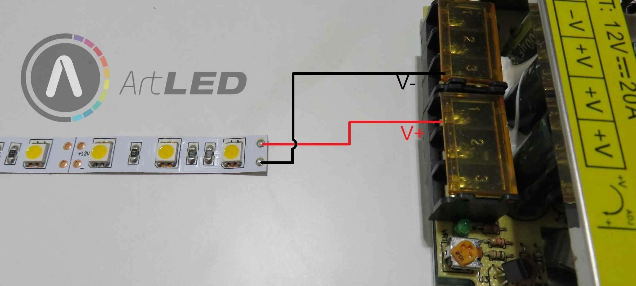 LED szalag bekötése 2