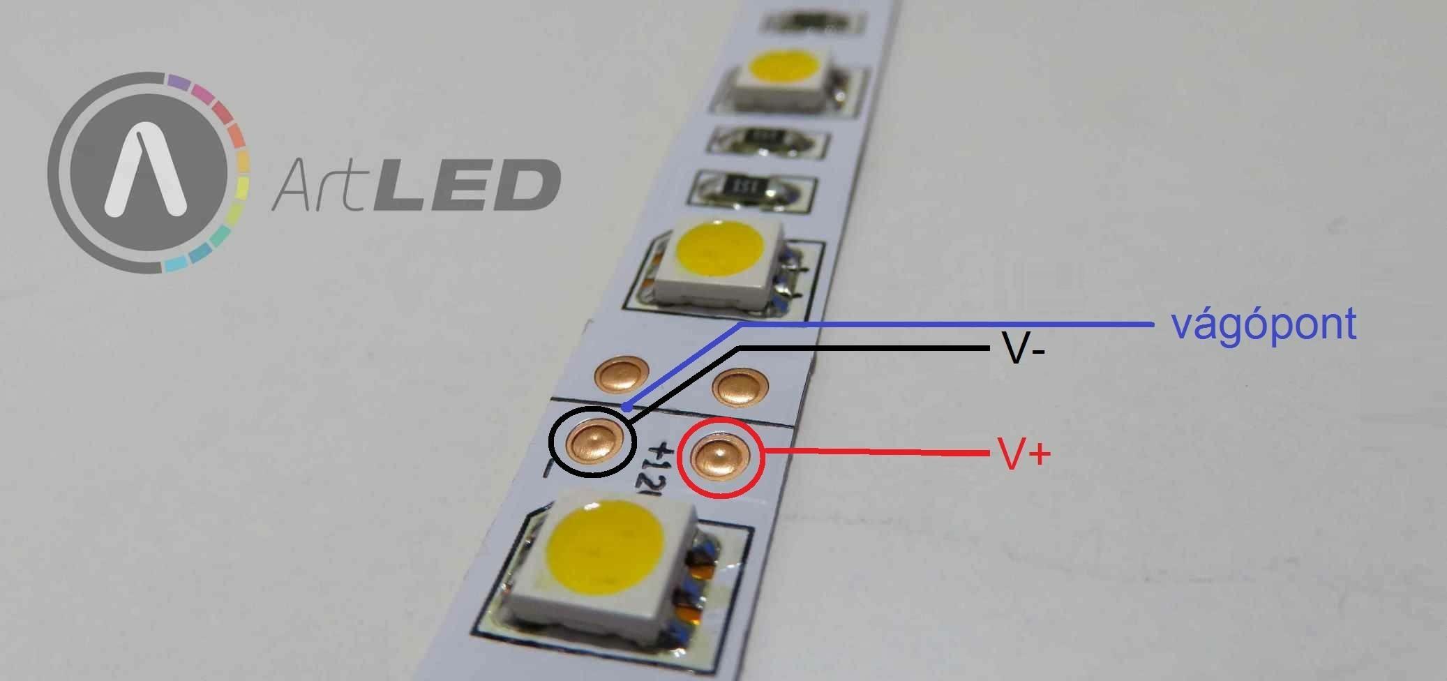LED szalag bekötése