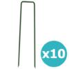 Kép 1/3 - Nortene műfű rögzítéséhez leszúrható fémkapocs (10 darab)