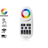 Kép 1/3 - Group Control RGBW csoport (zóna) távirányító RGB+fehér LED szalaghoz, fekete (8088)