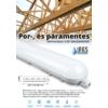 Kép 1/4 - F-Series por és páramentes LED lámpatest IP65 (48W) 150 cm, 6000K (13059)
