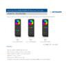 Kép 3/3 - LED SD RS-8 Touch RGB+W távirányító, érintős, fekete, 8 zónás (23110) 2