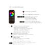 Kép 3/3 - LED SD RT-9 Touch RGB+W távirányító, érintős, fekete, 4 zónás (22581) 2