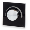 Kép 1/4 - LED SD S1-KB Fali fényerő szabályzó (Triac 230V) forgatógombos, fekete (22588)