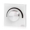 Kép 1/4 - LED SD S1-KW Fali fényerő szabályzó (Triac 230V) forgatógombos, fehér (22587)