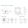 Kép 4/4 - LED SD S1-KW Fali fényerő szabályzó (Triac 230V) forgatógombos, fehér (22587) 3