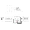 Kép 3/3 - LED SD T1-1W Fali LED fényerőszabályzó, érintésérzékeny, fehér (22591) 2