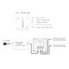Kép 3/3 - LED SD T2-1B Fali LED színhőmérséklet vezérlő, érintésérzékeny, fekete (22597) 2