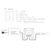 Kép 3/3 - LED SD T3-1W Fali LED RGB vezérlő, érintésérzékeny, fehér (22601) 2