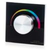 Kép 1/3 - LED SD T3-KB Fali LED RGB vezérlő, forgatógombos, fekete (22604)