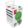 Kép 1/3 - Avide Dekor LED fényforrás G45 1W E27 Zöld
