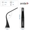 Kép 4/11 - Avide LED Asztali Lámpa Üzleti Bőrhatású Naptár Fekete 6W
