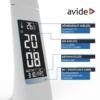 Kép 5/11 - Avide LED Asztali Lámpa Üzleti Bőrhatású Naptár Fehér 6W