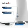 Kép 7/11 - Avide LED Asztali Lámpa Üzleti Bőrhatású Naptár Fehér 6W