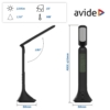 Kép 3/9 - Avide LED Asztali Lámpa Naptár Fekete 5W