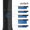 Kép 6/9 - Avide LED Asztali Lámpa Naptár Fekete 5W