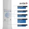 Kép 6/9 - Avide LED Asztali Lámpa Naptár Fehér 5W