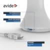 Kép 7/9 - Avide LED Asztali Lámpa Naptár Fehér 5W