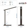 Kép 4/12 - Avide LED Asztali Lámpa Irodai Bőrhatású Naptár Barna 6W
