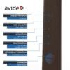 Kép 7/12 - Avide LED Asztali Lámpa Irodai Bőrhatású Naptár Barna 6W