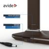 Kép 8/12 - Avide LED Asztali Lámpa Irodai Bőrhatású Naptár Barna 6W