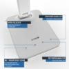 Kép 5/12 - Avide LED Asztali Lámpa Irodai Bőrhatású Naptár Fehér 6W