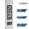 Kép 6/12 - Avide LED Asztali Lámpa Irodai Bőrhatású Naptár Fehér 6W