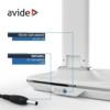 Kép 8/12 - Avide LED Asztali Lámpa Irodai Bőrhatású Naptár Fehér 6W