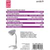 Kép 3/4 - Avide Basic E27 Asztali Lámpa C Talpú Fekete + 4W LED izzó