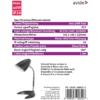 Kép 3/3 - Avide Basic E27 Asztali Lámpa C talpú Ezüst + 4W LED izzó