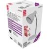 Kép 1/4 - Avide Basic E27 Asztali Lámpa O Talpú Fehér + 4W LED izzó