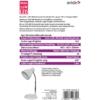 Kép 3/4 - Avide Basic E27 Asztali Lámpa O Talpú Fehér + 4W LED izzó
