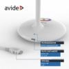 Kép 5/9 - Avide LED Asztali Lámpa RGB Fehér 4W
