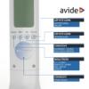 Kép 6/9 - Avide LED Asztali Lámpa RGB Naptár Fehér 4W