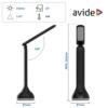 Kép 3/9 - Avide LED Asztali Lámpa RGB Hangulatvilágítás Fekete 4W