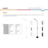 Kép 6/6 - Avide LED Állólámpa Remo 9W CCT Fekete