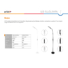 Kép 2/5 - Avide LED Állólámpa Remo 9W CCT Fehér