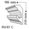 Kép 1/2 - ArtLED RV-07/C Rejtett világítás díszléc - mennyezet