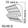 Kép 1/3 - ArtLED RV-08/B Rejtett világítás díszléc - mennyezet
