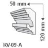 Kép 1/2 - ArtLED RV-09/A Rejtett világítás díszléc - mennyezet