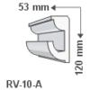 Kép 1/2 - ArtLED RV-10/A Rejtett világítás díszléc - mennyezet