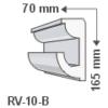 Kép 1/2 - ArtLED RV-10/B Rejtett világítás díszléc - mennyezet