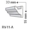 Kép 1/3 - RV-11/A Rejtett világítás kiegészítő léc (1016)