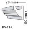 Kép 1/2 - ArtLED RV-11/C Rejtett világítás LED szalag tartó díszléc