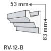 Kép 1/2 - ArtLED RV-12/B Rejtett világítás LED szalag tartó díszléc