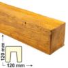 Kép 1/6 - Elite Decor DecoWood Bükk-120 Modern gerenda (ED106)