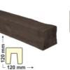 Kép 1/6 - Elite Decor DecoWood Mahagóni-120 Modern poliuretán gerenda (ED106)