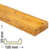 Kép 1/6 - Elite Decor DecoWood Bükk-120 Modern poliuretán deszka panel (ET406)