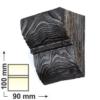 Kép 1/6 - Elite Decor DecoWood Mahagóni-90 Univerzális poliuretán konzol-01 (ED017)